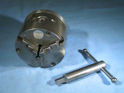 Burnerd 3-jaw 3-14 Dia Griptru Lathe Chuck Model 129mdr Key Made In England