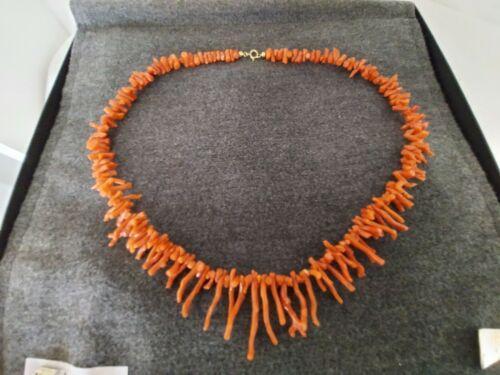 Antike Korallenkette Astkoralle Korallen Äste 56cm lang 50 g schwer