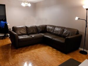 PRICE DROP: Natuzzi Leather Couch/Sectional