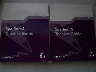 K12 Spelling 4 Semester 1   2 Teacher Guide