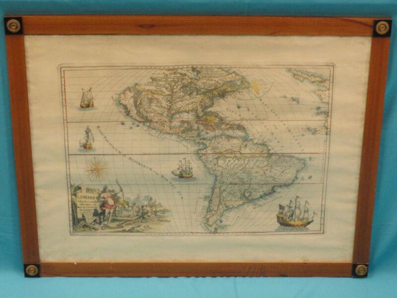 ANTIQUE 1646 PIERRE VANDER AA MAP: L