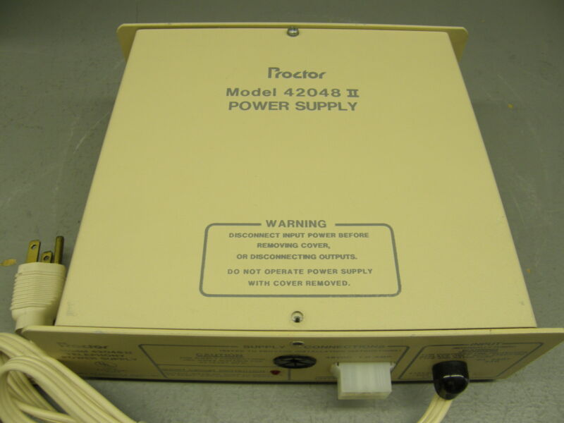 Proctor Model 42048II Telephony Power Supply 48VDC @ 1.0A