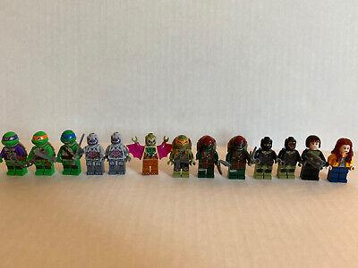 LEGO Teenage Mutant Ninja Turtles Mini Figure Lot Of 13 Minifigures