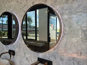 600mm round LED rose gold mirror - ex display - bargain !! Burleigh Heads Gold Coast South Preview