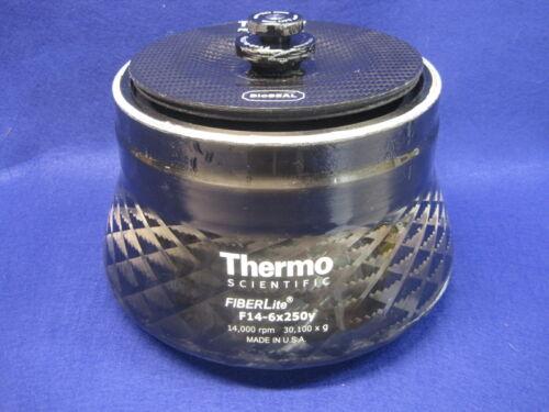 Thermo Piramoon FIBERLite F14-6x250Y 6x250mL Rotor & Cover 14,000 rpm 30,100 g