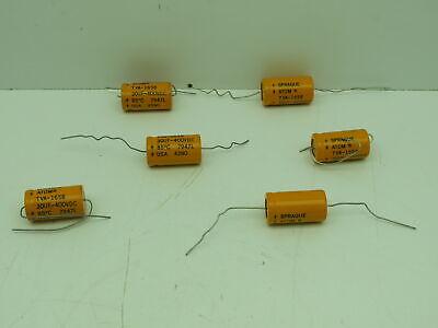 Sprague Tva-1658 Capacitor 30uf-400vdc Lot Of 6