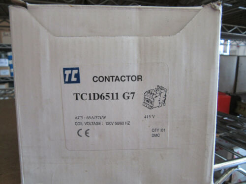 Shamrock TC1-D6511-G7 Contactor 3P 65A 120VAC Aux. Built-in 1 NO / 1 NC NEW!!!