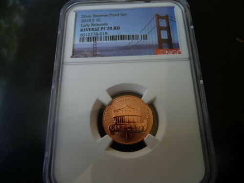 2018 s reverse proof Lincoln shield cent NGC Reverse PF 70 RD (Early Releases)