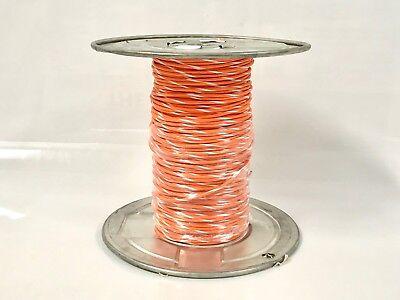 16 Gauge Tffn Tewn Wire Orange W White Stripe 25 Feet 600v Copper Ground Wire