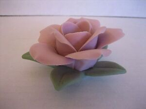 Pink Clay Flower Taper Candle Holder Tabletop 3 in.Round NWNT 1 in.Wide Taper