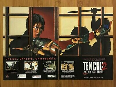 Tenchu 2: Birth of the Stealth Assassins PS1 Vintage Print Ad/Poster Official