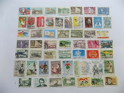 Finnish collection of used comm. stamps off paper-7-15-I-INCL. Scot# 763-4, 498-9