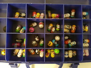 Kids toys, collection of mighty beanz & storage case