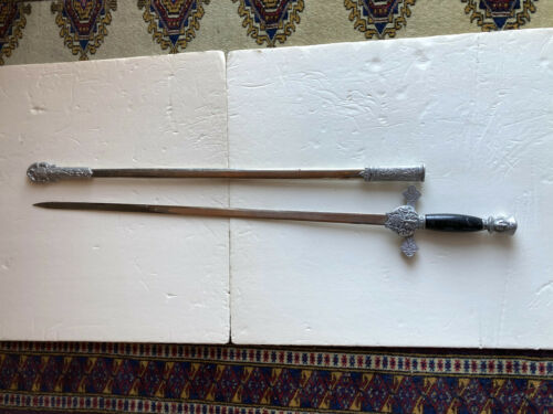 VINTAGE KNIGHTS OF COLUMBUS SWORD WITH SCABBARD PRICE REDUCED