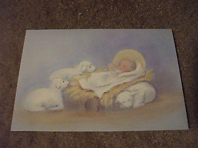 6 Christmas cards baby JESUS & lambs by masterpiece studios
