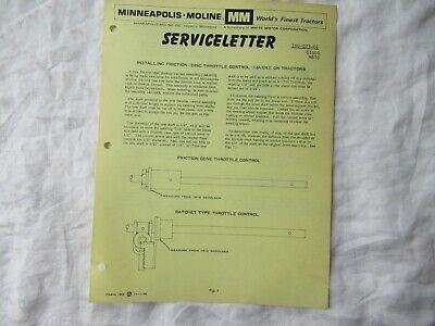 Minneapolis Moline G1000 M670 Tractor Disc Control Throttle Newsletter Brochure