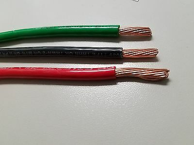 100 Ea Thhn Thwn 6 Awg Gauge Black Green Red Stranded Copper Building Wire