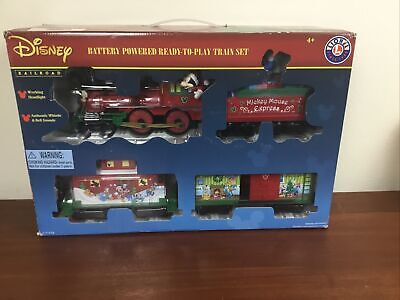 Lionel Disney (711773) Mickey Mouse Express Battery-Powered Model Train Set with