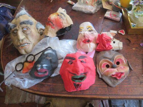Halloween and stage costume masks, var., devil, Plus