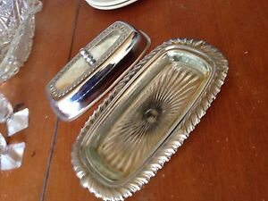 Glass butter tray