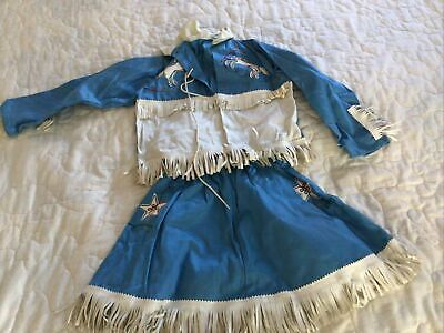 Vintage Halloween Costume Gramtags Girls Cowgirl Costume Size 6 Blue
