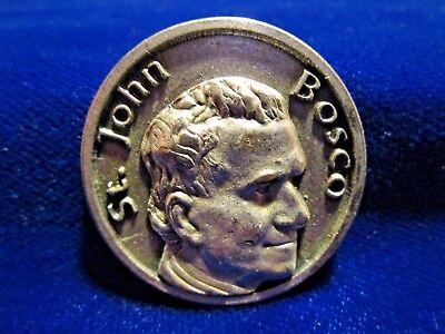 St John Bosco Pocket Medal/Token w/ Prayer