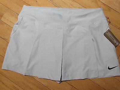 Nike Maria Sharapova Dri Fit Tennis Skirt With Shorts Sz Xl Nwt  Light Gray