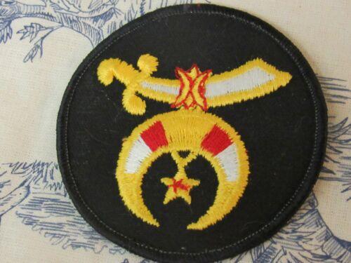 Vtg. Shriner / Masonic Embroidered Symbol Round Patch