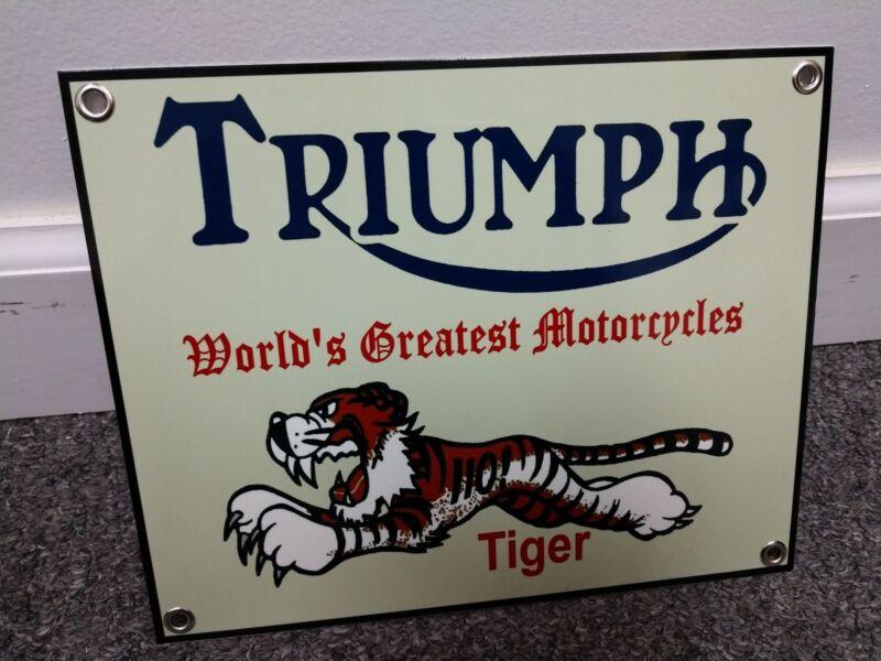 Triumph British Motorcycle sign ...Tiger