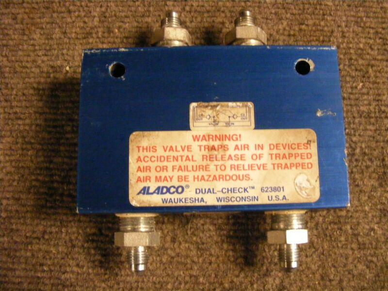 Aladco Pneumatic Dual Check Valve Cat No. 623801