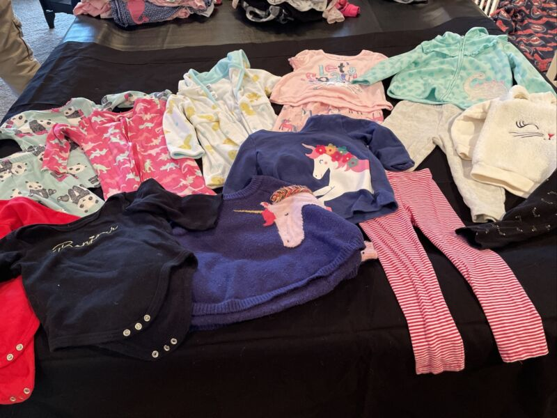 Baby Girl Clothes Fall Winter Lot 12-18 Months  (129) 15 Pieces