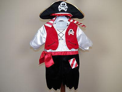 Kid Boy Halloween Costumes (Koala Kids Pirate Halloween 3-Piece Costume Boy's Size 9M Months **NEW W/)