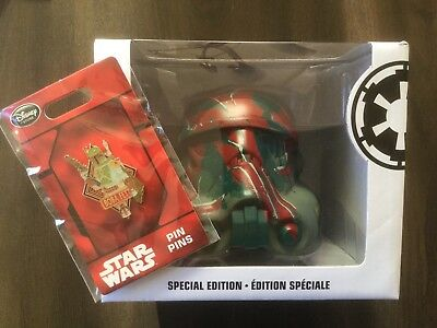 "Star Wars Boba Fett 6"" Legion Helmet  + Excluive Disney Boba Fett 2016 pin"