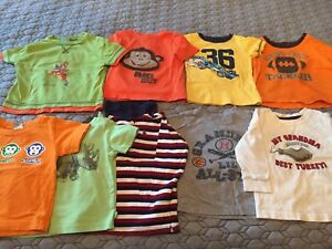 9 Boys Size 18 month tops