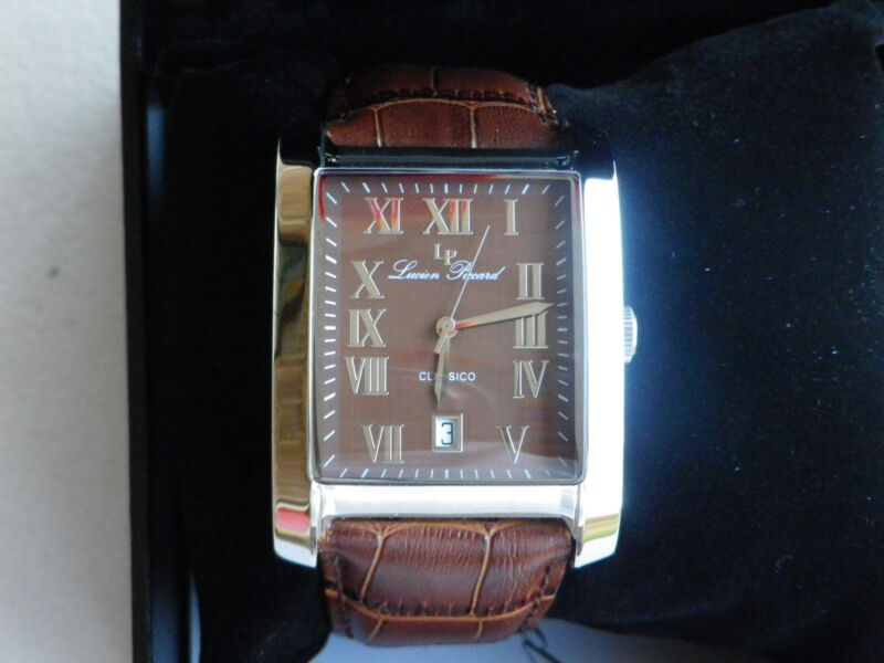 Lucien Piccard Men's 98042-04 Classico Brown Dial Brown Leather Watch