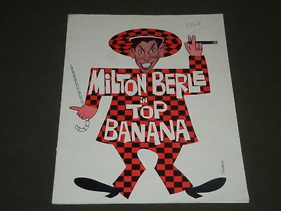 1963 MILTON BERLE TOP BANANA PROGRAM - NEWSPAPER ARTICLE INSIDE - J 2359