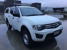 2012 Mitsubishi Triton MN MY12 GLX Double Cab White Automatic Campbellfield Hume Area Preview