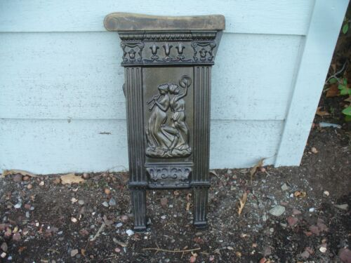 Antique Art Deco Cast Iron Movie Theater Left Seat End Out of Indiana Pa Theatre
