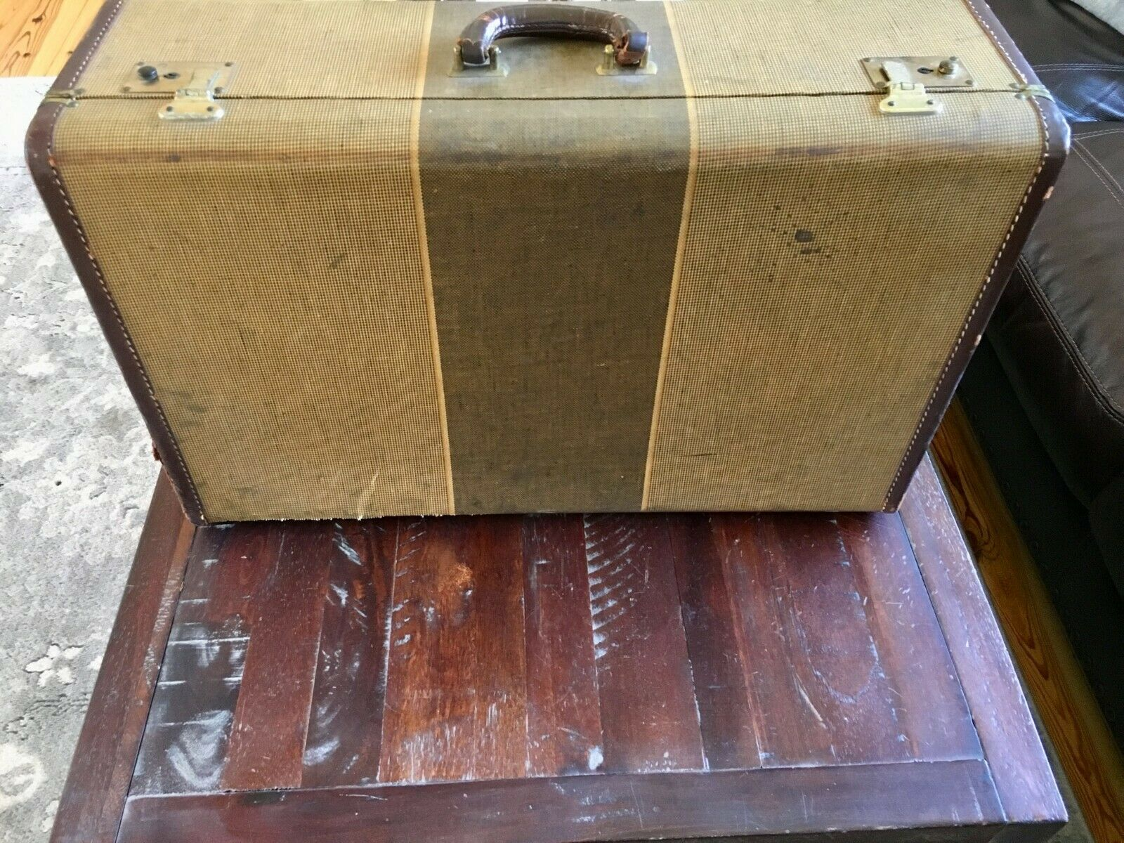 Vintage Suitcase/ Luggage/Ready To Ship /16 x 25.5  - $125.00