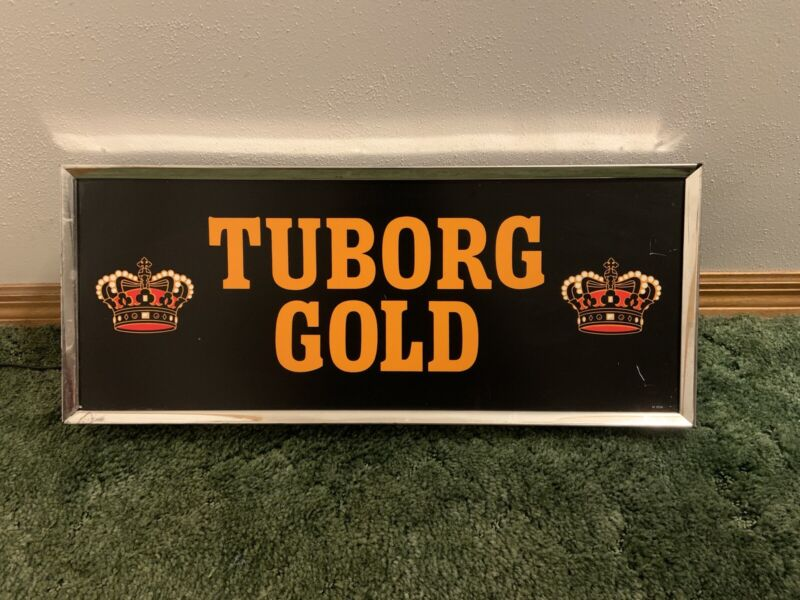 Rare Vintage 1956 Tuborg Gold Beer Lighted Sign Double Crown Carling National