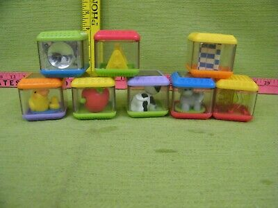 Lot of Peek A Blocks Toys by Fisher Price Assorted Alphabet Blocks
