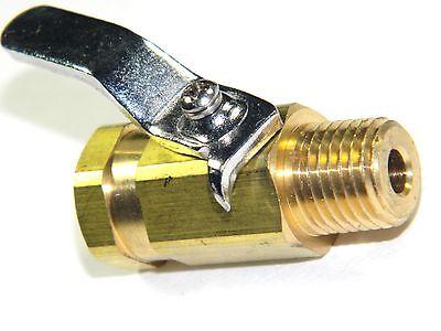 "Carpet Cleaning - Brass 1/4"" Ball Shut-Off Valve / for hoses wands"