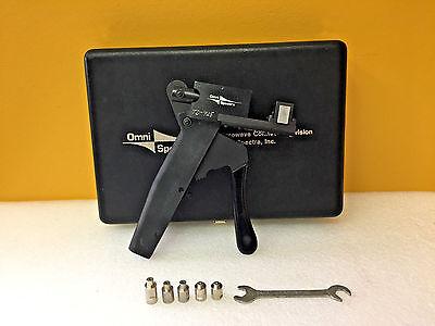 Omni-spectra 2098-5657-54 Compression Crimping Tool Kit 5 Anvils Case