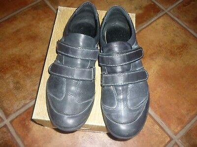 Chaussures mocassins sneackers femme fille cuir dle cuir noir 41 san marina