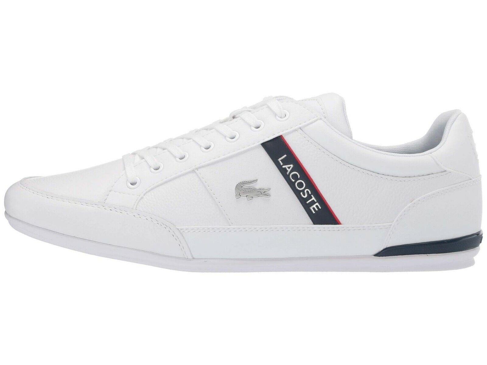 LACOSTE Chaymon 319 5 Croc Logo Leather Shoes Men's Fashion Sneakers White Navy