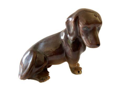 Porcelain Dachshunds Dog Sculpture