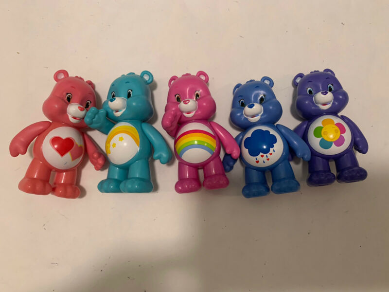 Lot Of PVC Care Bear Figurines Cake Toppers
