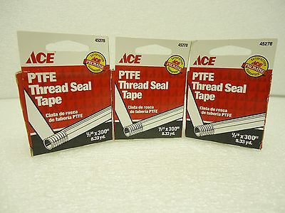 New Ace Ptfe Thread Seal Tape 45278 12 X 300