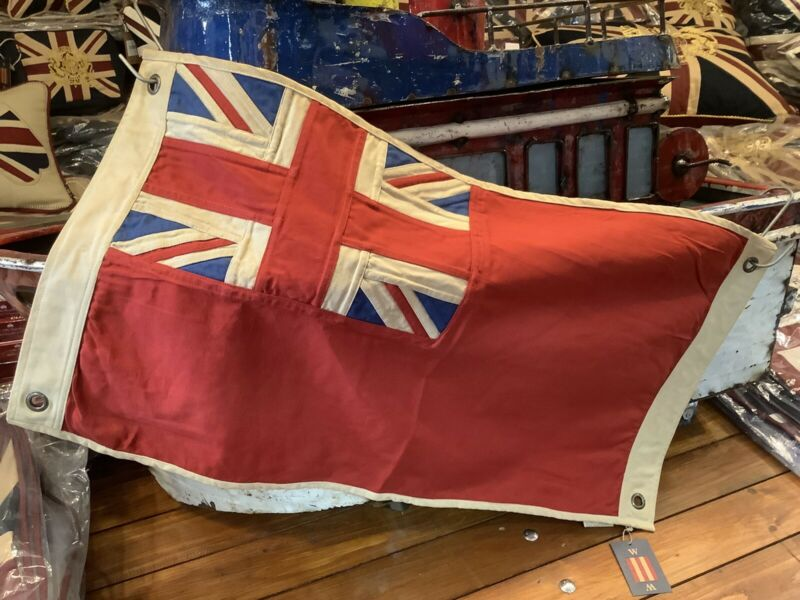 British Red Ensign   Duster End Nautical Large Union Jack Flag 74x43cms