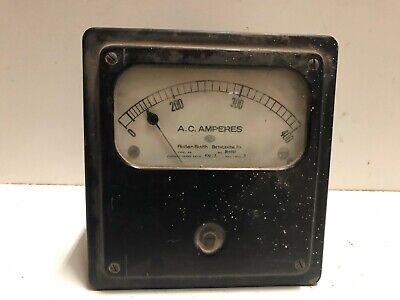 General Electric Roller-smith Panel Meter 0-400 Ac Amperes